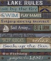 Lake Rules On Wood Fine Art Print