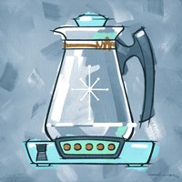 Blue On Blue Coffee Pot Fine Art Print