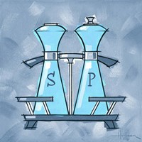 Blue On Blue Salt And Pepper Fine Art Print