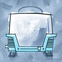 Blue On Blue Toaster Fine Art Print