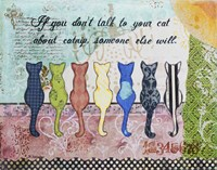 Cat Talk Fine Art Print