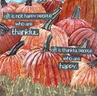 Thankful Pumpkins Fine Art Print