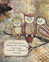 Wise Owls Fine Art Print
