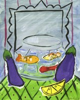 Eggplants and Fish Fine Art Print