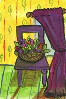Purple Curtains and Chair Fine Art Print