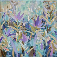 Purple Garden Fine Art Print