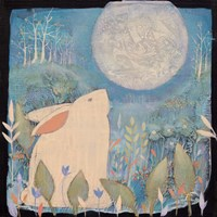 Rabbit and Moon Fine Art Print