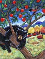 Bear In The Apple Tree Fine Art Print