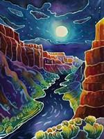 Moonlit Canyon Fine Art Print