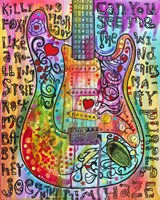 Jimmies Guitar Fine Art Print