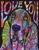 Love You Basset Fine Art Print