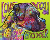 Love You Boxer Fine Art Print