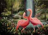 Flamingo Flamenco Fine Art Print