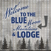 Blue Bear Lodge Sign 3 Framed Print