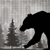 Blue Bear Lodge Sign 5 Framed Print