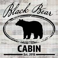 Blue Bear Lodge Sign 8 Framed Print