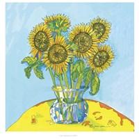 Sunflowers For Matisse Fine Art Print