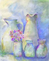 Homage To Morandi With Flowers Fine Art Print