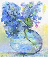 Hydrangea In Fish Bowl Fine Art Print