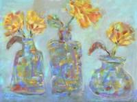 Nina's Three Bud Vases Fine Art Print