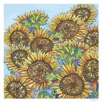 Sunflowers Upclose Fine Art Print