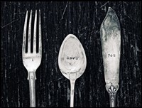Antique Knife Fork and Spoon Fine Art Print