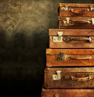Antique Luggage Suitcases Fine Art Print
