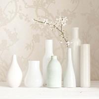 Blossom and White Vases Still Life Fine Art Print