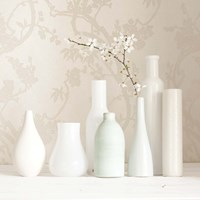 Blossom and White Vases Still Life Fine Art Print