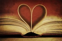 Book Pages in Heart Shape Fine Art Print