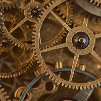 Copper Cogs Close up 1 Fine Art Print