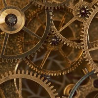 Copper Cogs Close up 2 Fine Art Print