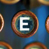 Letter E of Typewriter 'LOVE' Fine Art Print