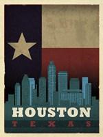 Houston Flag Fine Art Print