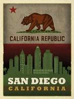 San Diego Flag Fine Art Print