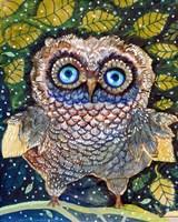 Collage Owl Fine Art Print
