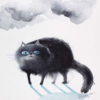 Black Cat 3 Fine Art Print