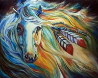 Breaking Dawn Indian War Horse Fine Art Print