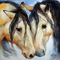 Buckskin Friends Fine Art Print