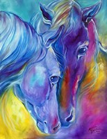 Color My World With Horses Loving Spirits Fine Art Print