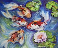 Happiness Koi Dance Fine Art Print
