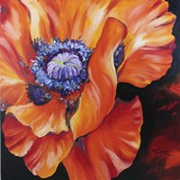 Heart Of A Red Poppy Fine Art Print