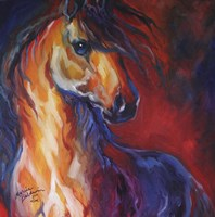 Stallion Red Dawn Fine Art Print