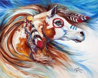 Wind Of Thunder Indian War Horse Fine Art Print