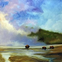 Yellowstone Buffalo Landscape Fine Art Print