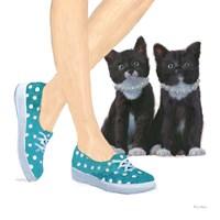 Cutie Kitties III Framed Print