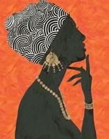 Graceful Majesty I Orange Fine Art Print