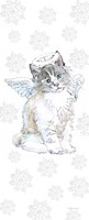 Christmas Kitties I Snowflakes Fine Art Print
