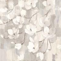 Magnolias in Spring I Neutral Framed Print