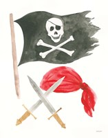 Pirates II on White Fine Art Print